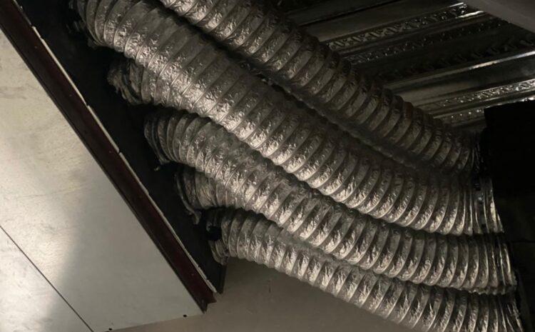 کانال فکسیبل برزنی کار شده در ساختمان