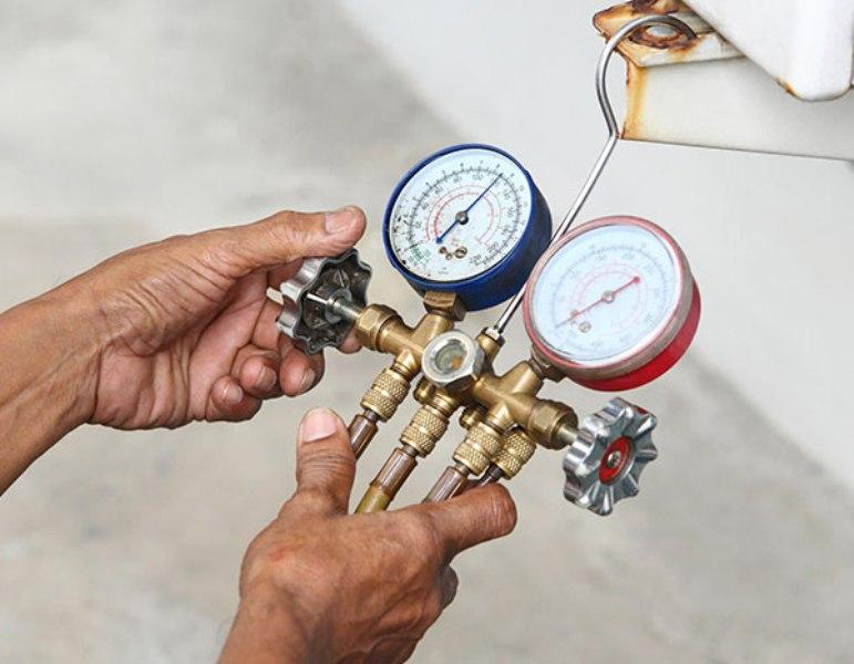 شارژ گاز کولر گازی با والف شارژ